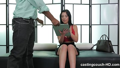 Nice fake tits murk Selena fucked in interracial casting