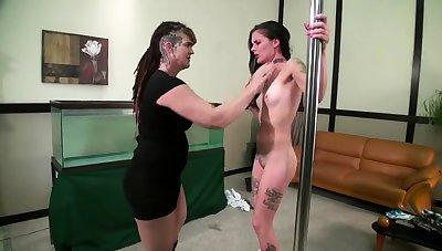 Lesbian Slave bdsm bondage slave femdom embrace b influence