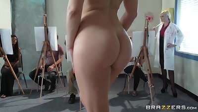 Fucking on the floor about nice tits Alena Croft and Ashley Fires