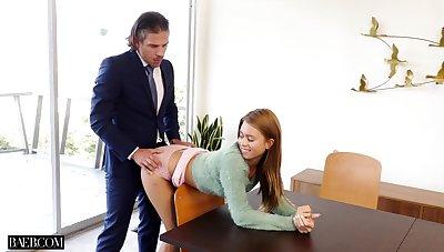 Interesting business man fucks his glum secretary Jill Kassidy