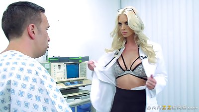 First time this womanlike doctor gets laid with one of say no to patients