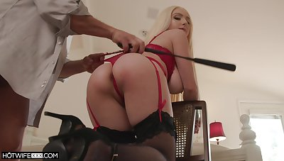 Ass whipped and tied up during sex for a complete maledom