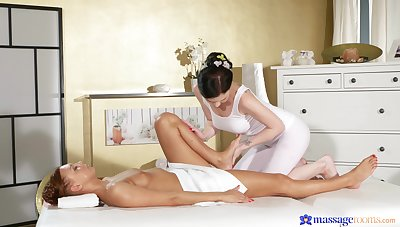 Best softcore with bed after a remarkable lezzie massage
